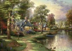 Schmidt  legpuzzel Hometown lake puzzle - 1500 stukjes