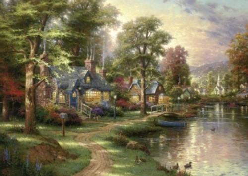 Schmidt legpuzzel Hometown Lake, 1500 stukjes