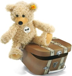 Steiff Charly dangling Teddy bear in suitcase, beige