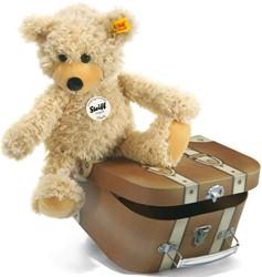 Steiff - Knuffels - Charly dangling Teddy bear in suitcase, beige