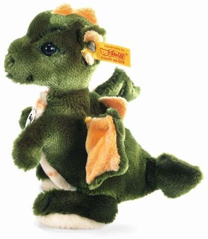 Steiff knuffel Raudi dragon boy, green - 17cm