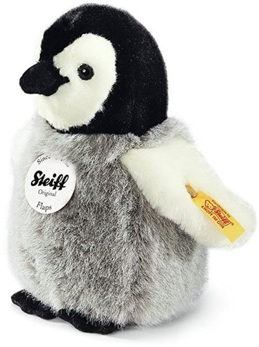 Steiff knuffel Flaps penguin, black/white/grey - 16cm