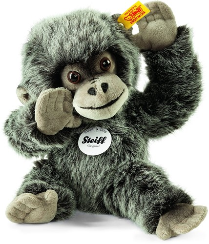 Steiff Gora baby gorilla, grey tipped