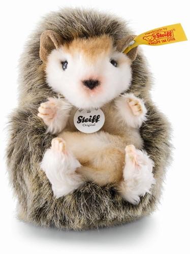 Steiff knuffel Joggi baby hedgehog, mottled brown - 10cm