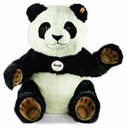 Steiff - Knuffels - Pummy panda, black/white