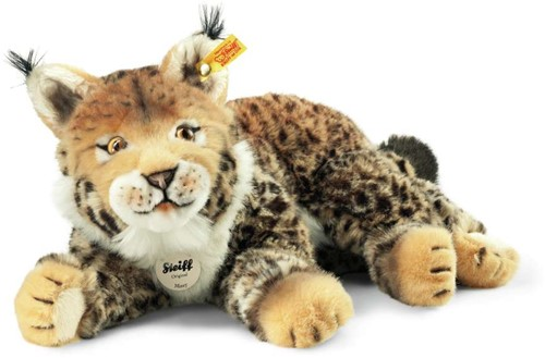Steiff knuffel Mizzy lynx, striped beige/brown - 35cm