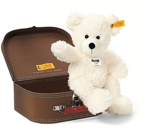 Steiff knuffel Lotte Teddy bear in suitcase, white - 28cm