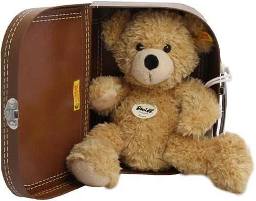 Steiff knuffel Fynn Teddy bear in suitcase, beige - 28cm