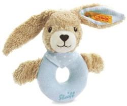Steiff Hoppel rabbit grip toy with rattle, blue