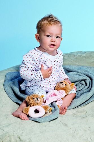 Steiff Sleep well bear comforter, pink-2