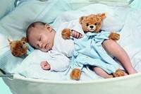Steiff knuffel Sleep well bear comforter, blue - 30cm-2