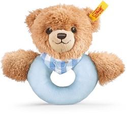 Steiff Sleep well bear grip toy with rattle, blue
