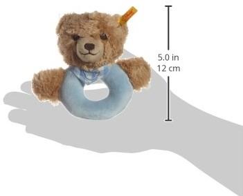 Steiff Sleep well bear grip toy with rattle, blue-3