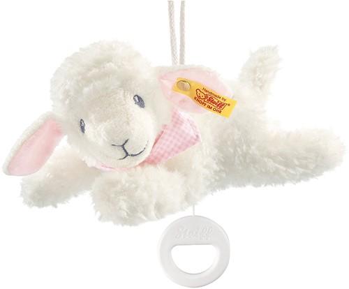 Steiff knuffel Sweet dreams lamb music box, pink - 25cm