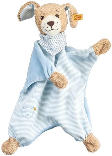 Steiff baby Good night dog comforter, blue - 30cm