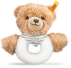 Steiff Sleep well bear grip toy with rattle, grey