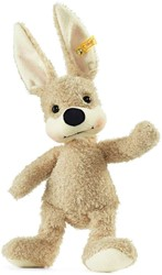 Steiff knuffel Friend-Finder rabbit with rustling foil, beige/green