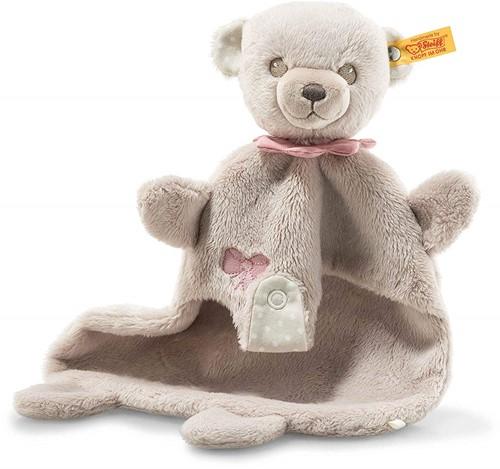 Steiff Hello Baby Teddybeer Lea knuffeldoek in cadeauverpakking