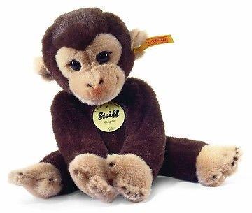 Steiff knuffel Little friend Koko monkey, dark brown - 25cm