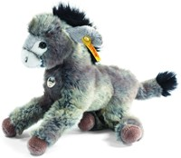 Steiff knuffel Little friend Issy donkey, grey/beige - 24cm