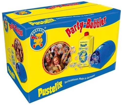 PustefixBellenblaas:PARTYBUBBLER,met1literPustefixvloeistof,werktop stroomenbatterijen,adapterisinbegrepen,10+