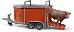 Bruder Cattle trailer including 1 cow