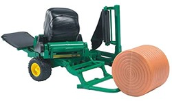 Bruder  - Bale wrapper with ockery and black round bales