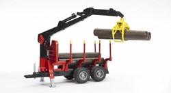 Bruder  - Bomentransporwagen met grijper en bomen