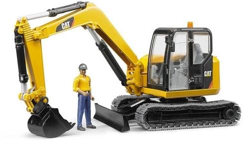 Bruder Cat Minibagger met bouwarbeiders - 2466