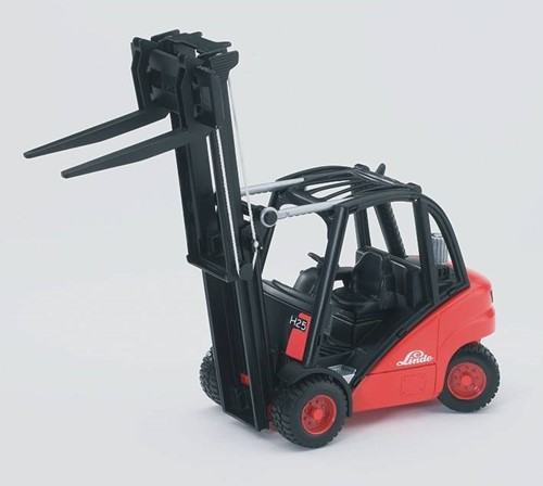 Bruder Linde  fork lift HD30 with tow-coupling and 2 pallets-2