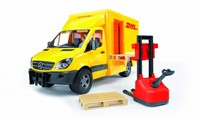 Bruder MB sprinter DHL + handpallettruck-3