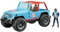 Bruder Jeep Cross Country Blauw met rally-rijder