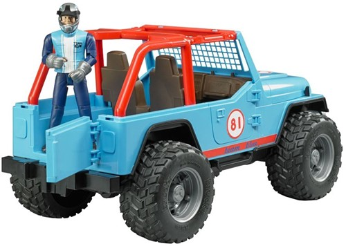 Bruder Jeep Cross Country Blauw met rally-rijder-2