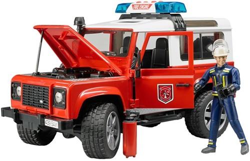 Bruder Land Rover Defender Stationwagen - Brandweer-3