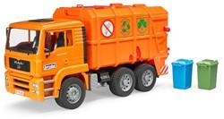 Bruder MAN Vuilniswagen oranje