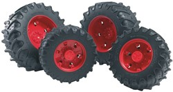 Bruder  - Access.: Twin tyres with red rims f. tractor Series 03000