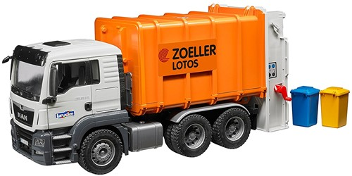 Bruder MAN TGS Vuilniswagen oranje - 3762