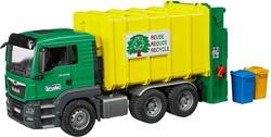 Bruder MAN TGS Vuilniswagen groen/geel 3764