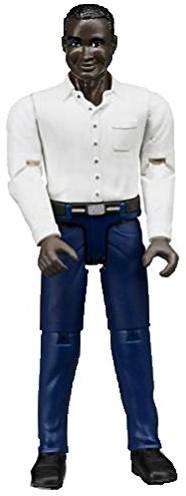Bruder Man met donkere huisdskleur - donkerblauwe jeans