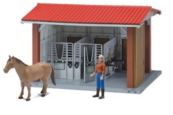Bruder  - Bworld Horse stable with figure, horse and accessories