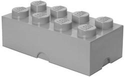 Lego Opbergbox Brick 8 - grijs