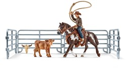 Schleich Boerderij - Lassovangst Met Cowboy 41418