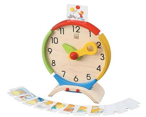 Plan Toys houten activiteiten klok