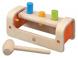 Plan Toys  houten leerspel Hamer bank
