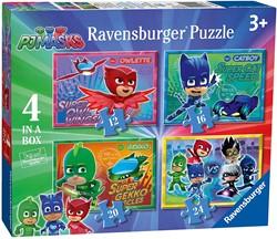 Ravensburger puzzel PJ mask - Vier puzzels 12+16+20+24 stukjes - kinderpuzzel