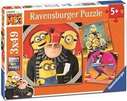 Ravensburger Despicable Me 3 Minion Chaos. Drie puzzels van 49 stukjes