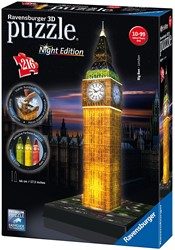 Ravensburger  3D puzzel Big Ben-Night Edition