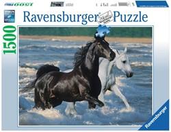 Ravensburger  legpuzzel Paarden op het strand - 1500 stukjes
