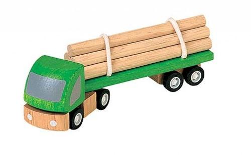 Plan Toys Plan City houten bomenvrachtwagen