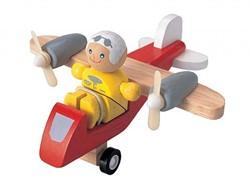 Plan Toys  houten speelvoertuig Propellervliegtuig